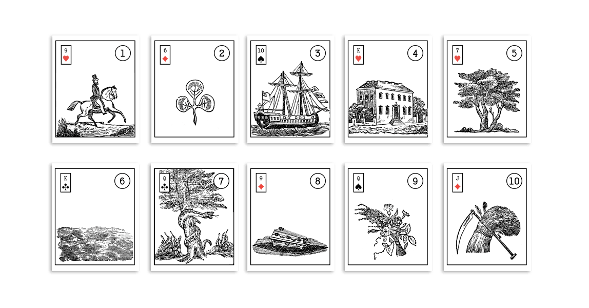 photo relating to Printable Tarot Cards to Color named Prompt Lenormand Wandering Oracle